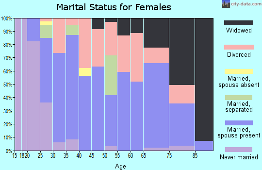 Zip code 38330 marital status for females