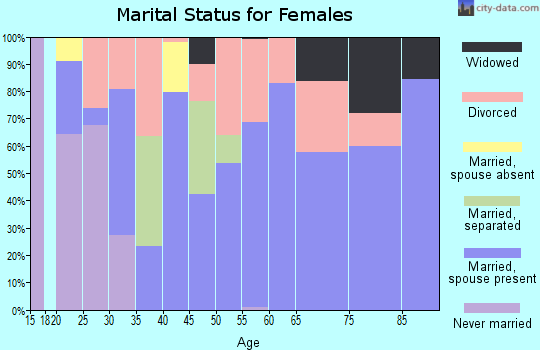 Zip code 38356 marital status for females