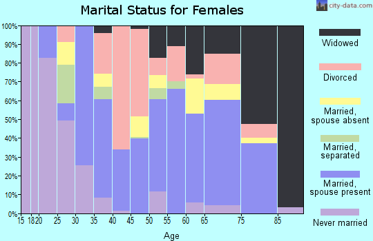 Zip code 38375 marital status for females