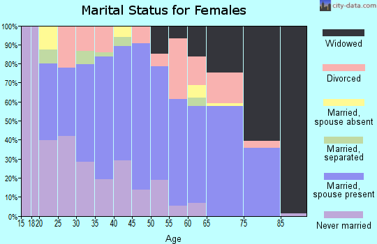 Zip code 38382 marital status for females