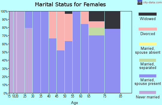 Zip code 38582 marital status for females