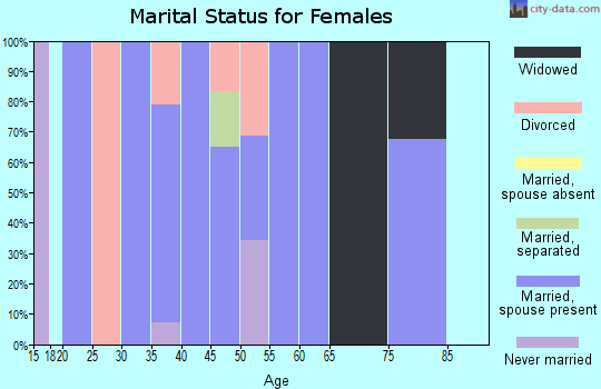 Zip code 38627 marital status for females