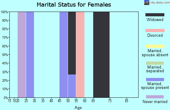 Zip code 38630 marital status for females