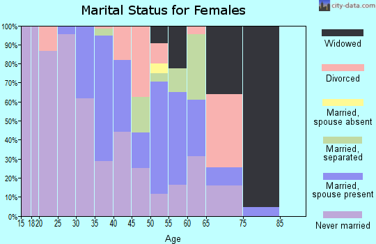 Zip code 38643 marital status for females