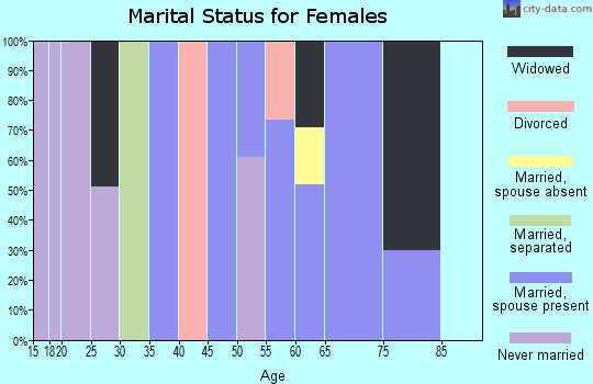 Zip code 38685 marital status for females