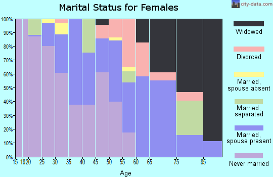 Zip code 38737 marital status for females
