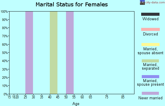 Zip code 38738 marital status for females