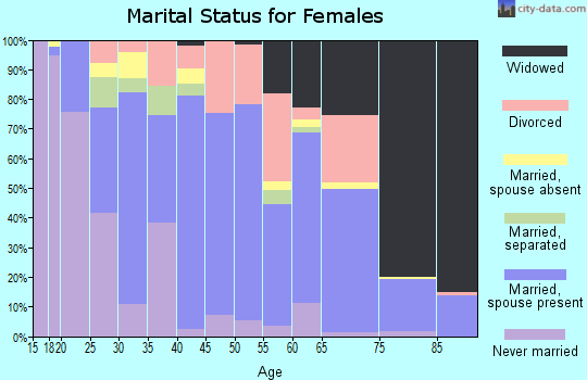 Zip code 38829 marital status for females