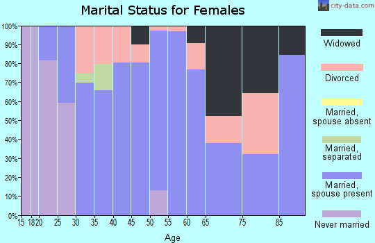 Zip code 38846 marital status for females