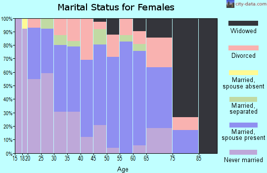 Zip code 38868 marital status for females