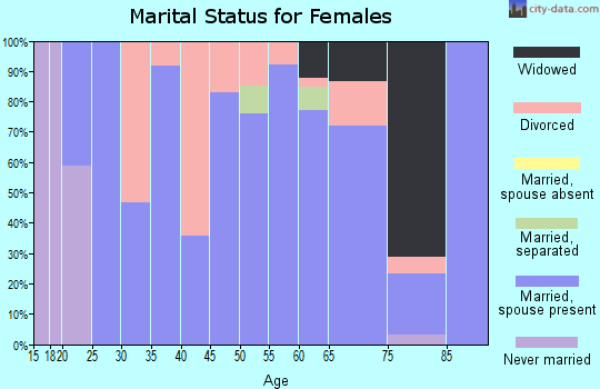 Zip code 38870 marital status for females