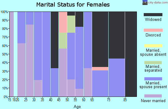 Zip code 38952 marital status for females