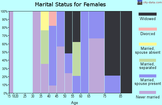 Zip code 39179 marital status for females