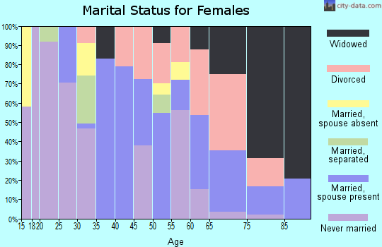 Zip code 39638 marital status for females