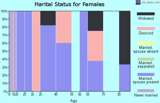 Zip code 39704 marital status for females
