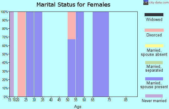 Zip code 40140 marital status for females