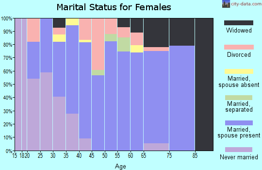Zip code 40162 marital status for females