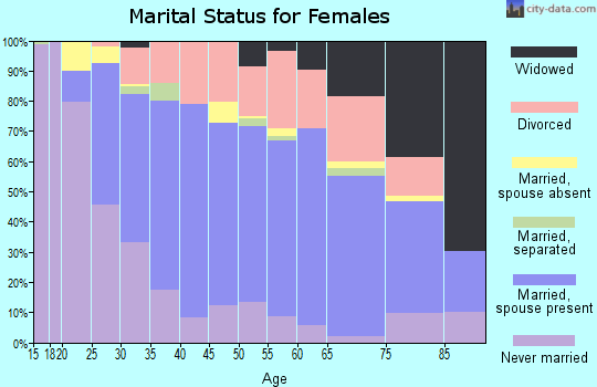 Zip code 40242 marital status for females