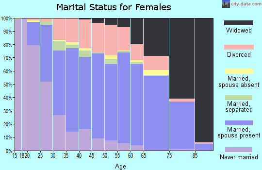Zip code 40272 marital status for females