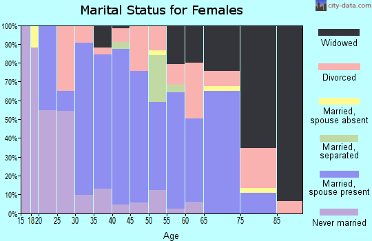 Zip code 41041 marital status for females