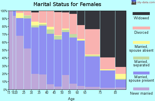 Zip code 41042 marital status for females