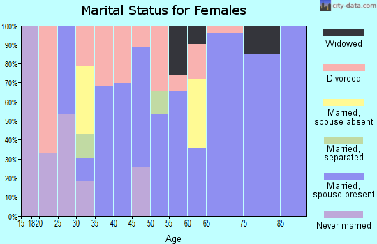 Zip code 41045 marital status for females