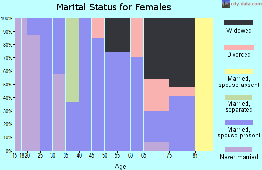 Zip code 41049 marital status for females