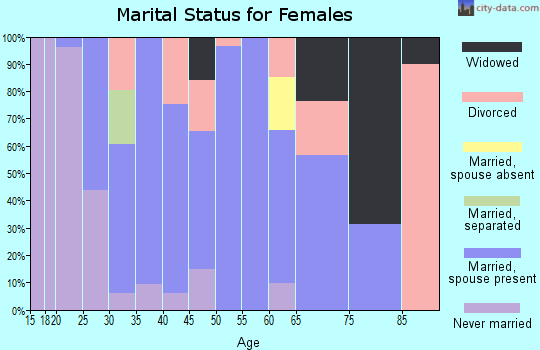 Zip code 41055 marital status for females