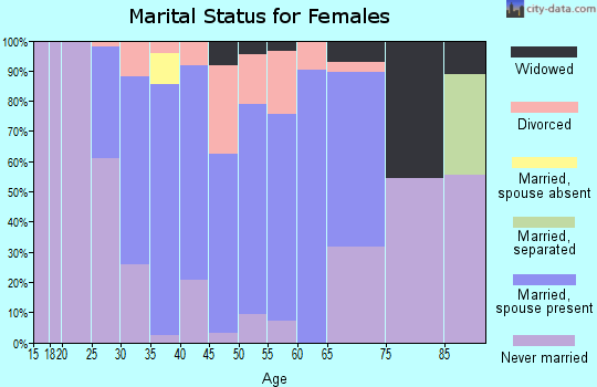Zip code 41059 marital status for females