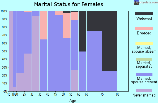 Zip code 41086 marital status for females
