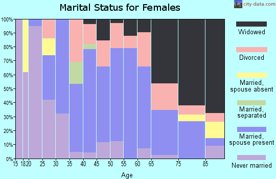 Zip code 41139 marital status for females