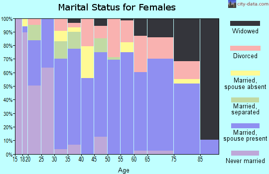 Zip code 41169 marital status for females
