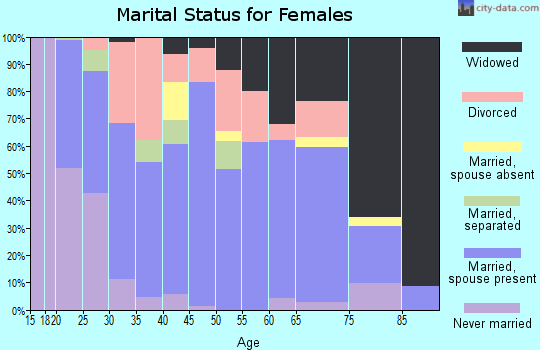 Zip code 41179 marital status for females