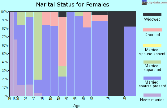 Zip code 41267 marital status for females