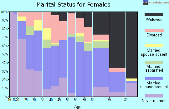 Zip code 41339 marital status for females