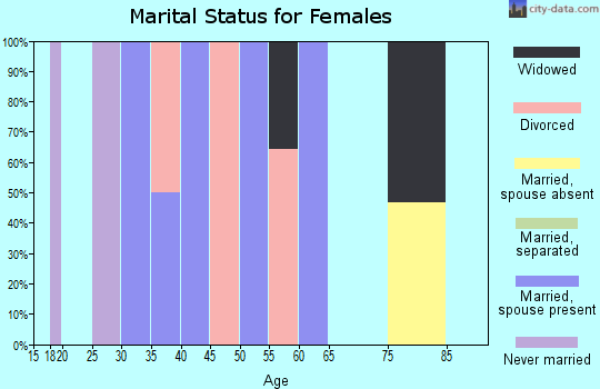 Zip code 41385 marital status for females