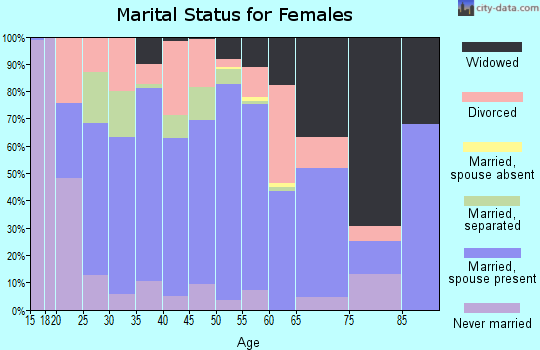 Zip code 41465 marital status for females