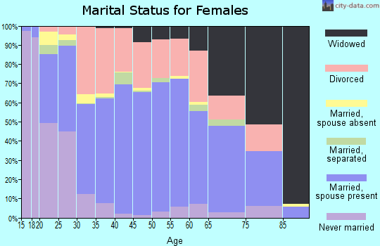 Zip code 41501 marital status for females