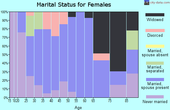 Zip code 41514 marital status for females