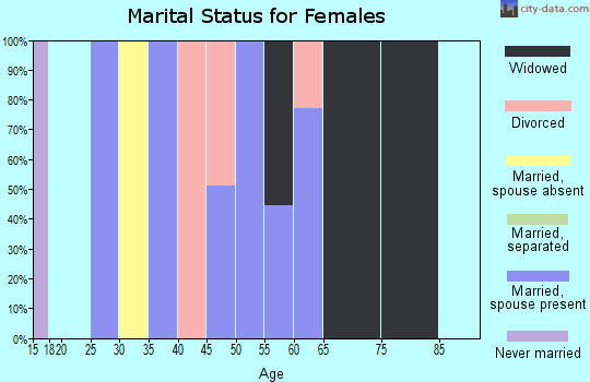 Zip code 41558 marital status for females