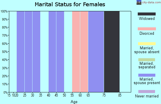 Zip code 41559 marital status for females