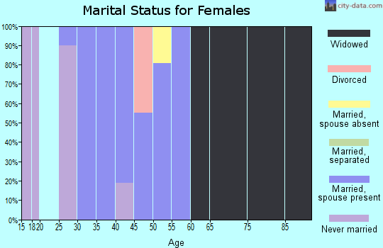 Zip code 41631 marital status for females