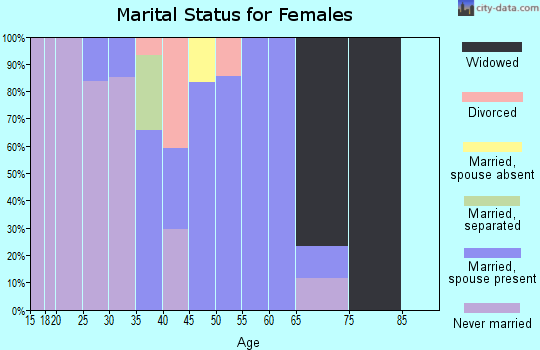 Zip code 41828 marital status for females
