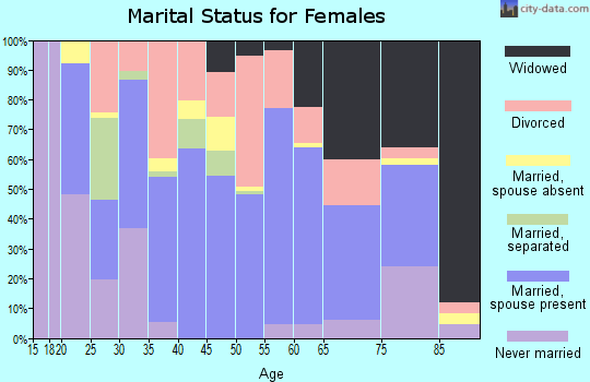 Zip code 41858 marital status for females