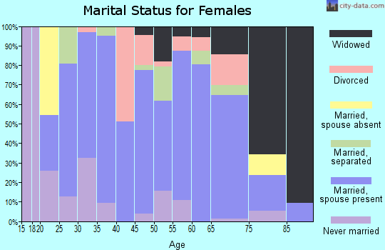 Zip code 42023 marital status for females