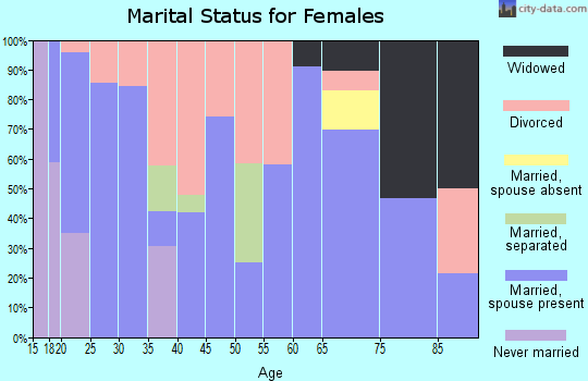 Zip code 42048 marital status for females