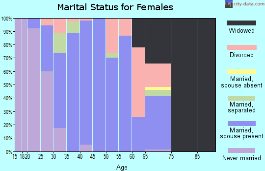 Zip code 42049 marital status for females