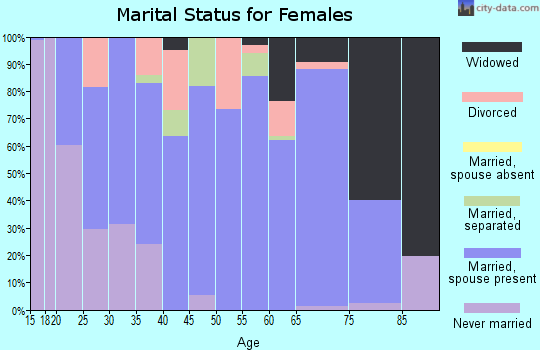 Zip code 42053 marital status for females