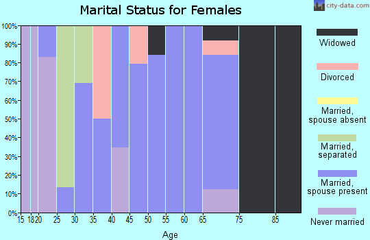 Zip code 42058 marital status for females
