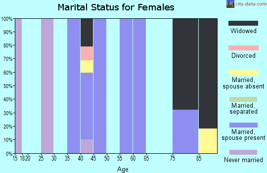 Zip code 42069 marital status for females